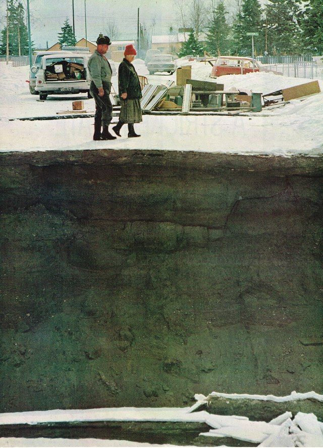1964 Good Friday Earthquake in Alaska Photo.