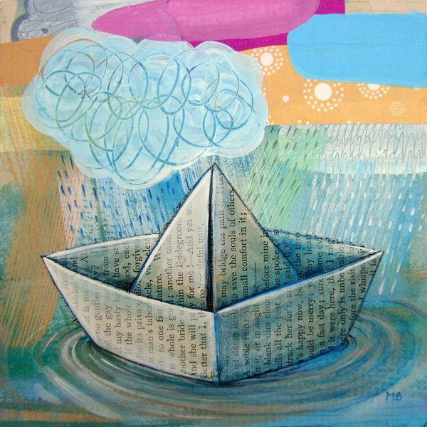 Paper boat illustration << repinned by BoatsforsaleUK, follow us on Twitter @Boats for Sale UK for news & updates