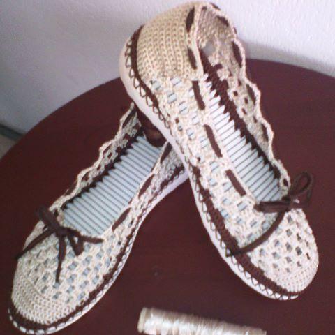 zapatos tejidos a crochet para dama - Buscar con Google