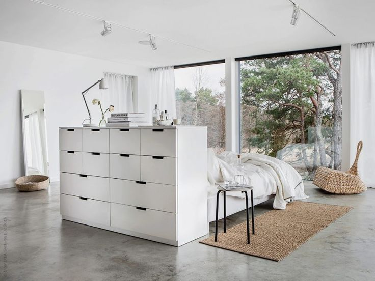 Enchanting white Ikea bedroom