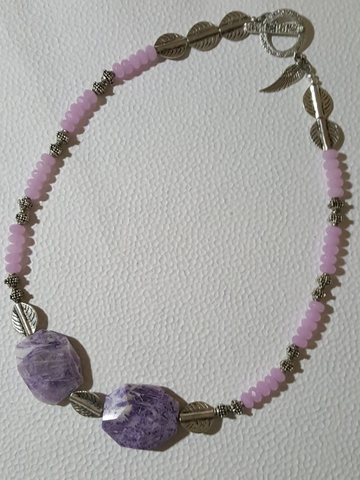 Nurture : A Purple Jasper and Pink-Purple Crystal Necklace by UnseenHands on Etsy