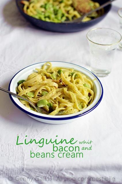 Linguine al pesto di fave by Genny G., via Flickr