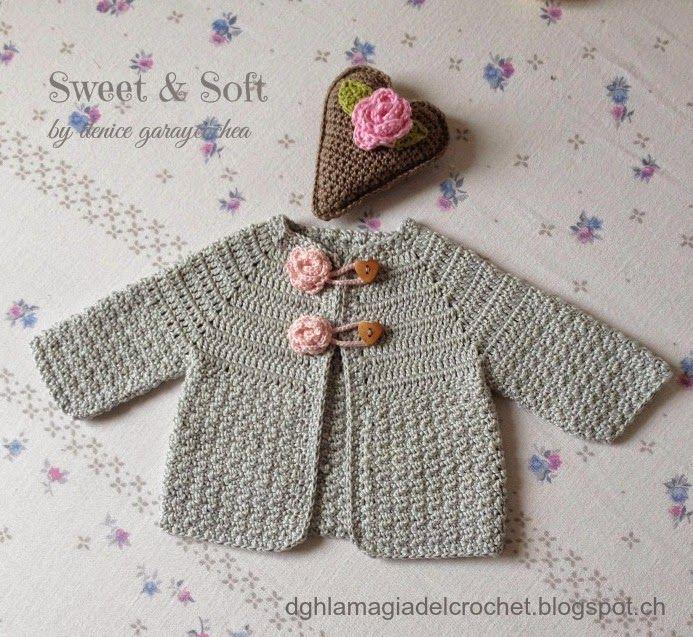 ¿Quieres hacer este saquito para una recién nacida? Es muy fácil y muy divertido. ¡Sigue las explicaciones de este post! ;)