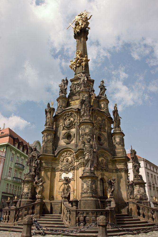 The Holy Trinity Column , Olomouc, Czech Republic.