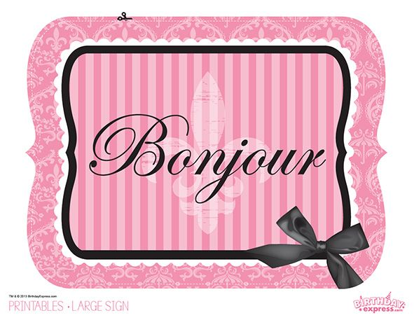Paris Damask Party FREE PRINTABLE!