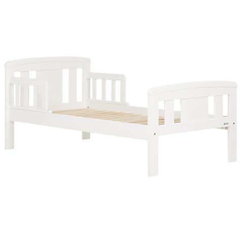 Buy John Lewis Boris Toddler Bedstead, White Online at johnlewis.com