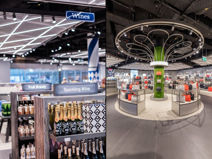 Terminal 2 Duty Free shop by Gruschwitz & Umdasch Shopfitting, Munich Airport – Germany » Retail Design Blog