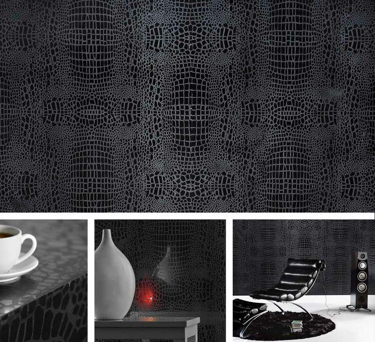 Motivo Black Crocodile #MotivoBlackCrocodile #Motivo #black #crocodile ##calgary #yyc #icon #iconstonetile #inspiration #creation #design #space #decor #interior #space #home