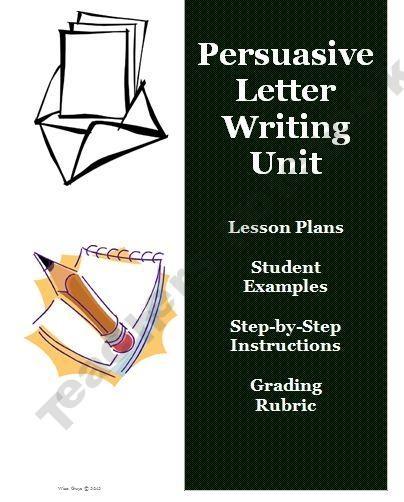 writing a persuasive essay lesson plan