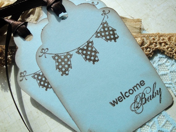 New Baby Boy Wish Tree Tags for Baby Shower by EllenasPaperHouse, $4.50