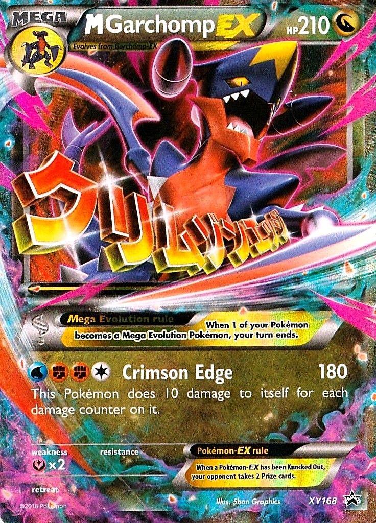 Pokemon M Mega Garchomp Ex Xy168 Black Star Promo Pokemon Full Art