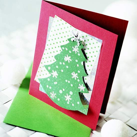 Cartoline di Natale fai da te