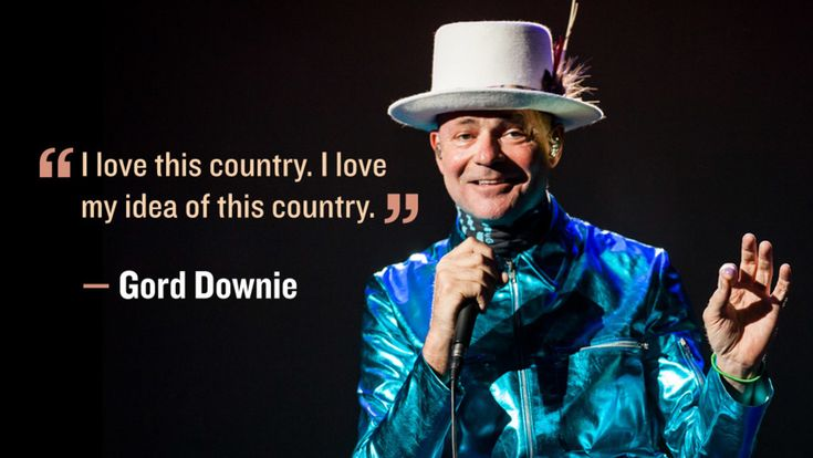Gord Downie talks about his idea of Canada.