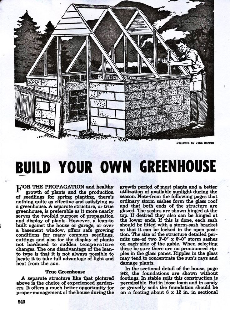 Backyard greenhouse plans from a diy book of home projects for House plans with conservatory