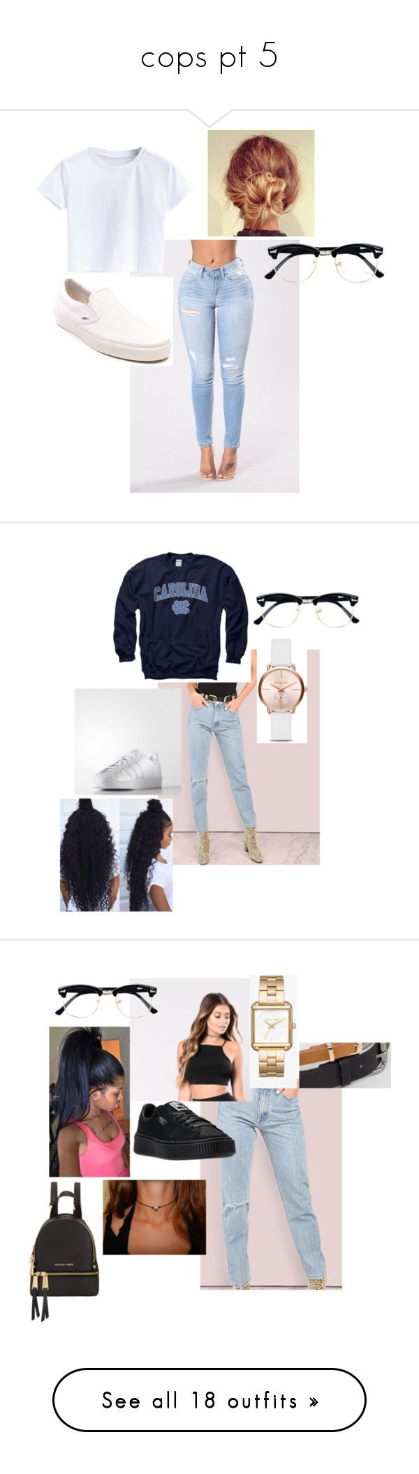 """""""cops pt 5"""" by olivyathompson on Polyvore featuring Vans, Topman, Gameday Boots, Michael Kors, adidas, ASOS, MICHAEL Michael Kors, NIKE, ODD FUTURE and WithChic"""