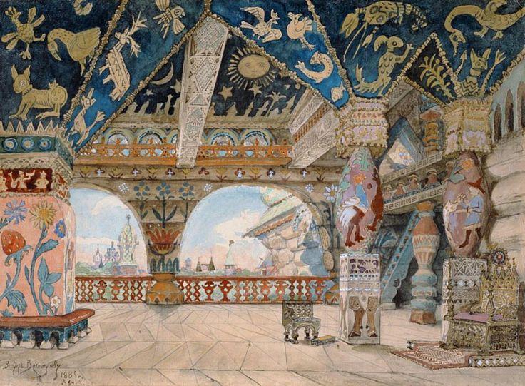 Проект сцены к опере Николая Римского-Корсакова «Снегурочка». Виктор Васнецов