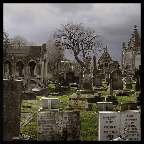 Opened in 1832, Kensal Green, London, is the oldest cemetery still in operation of the seven. By legislation when it is filled it must become a memorial park.