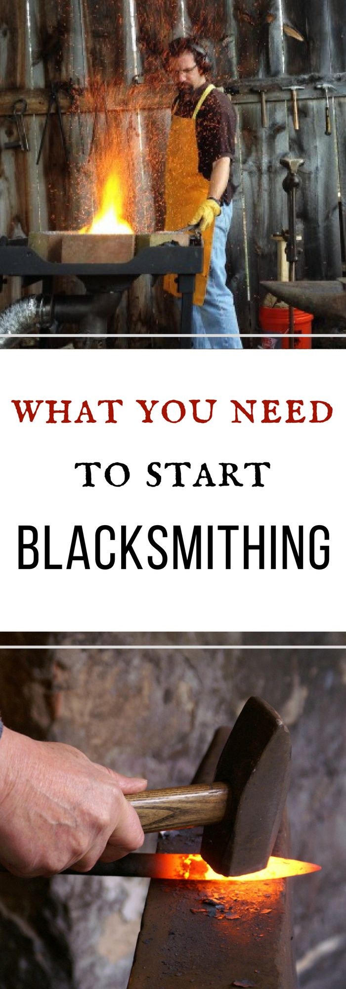 What you need to start blacksmithing at home - this will tell you all about what you need to get started!