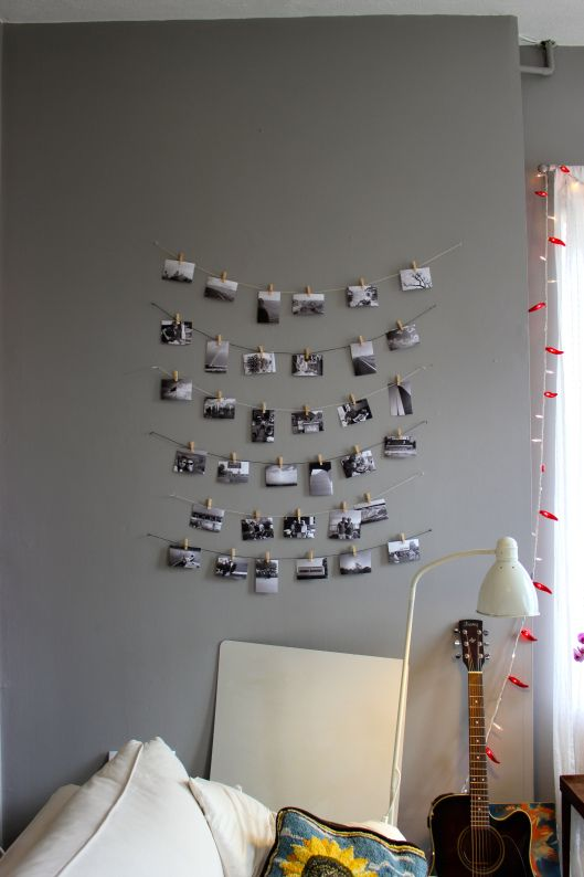 Clothespin Photo Display DIY