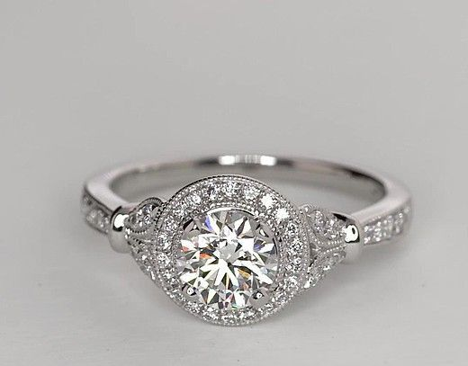 rings vintage diamond ring wedding rings vintage engagement ring halo