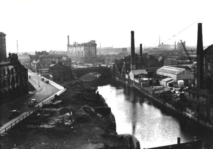 Salford and Manchester