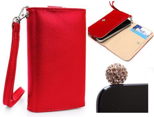 Samsung Galaxy Axiom Mobile Phone Wallet Red Clutch Carrying Cover Case Pouch with Bonus Gold Disco Ball Earphone Plug + EnvyDeal Velcro Cable Tie by Kroo. $11.50. Bundle Includes one Mini Gold Disco Ball Earphone Plug that can be plugged into the headphone jack while not in use for decoration. What better way to protect your brand new device than this stylish but practical wallet. All orders for this smartphone case are shipped with one EnvyDeal Velcro Cable Tie, a ne...