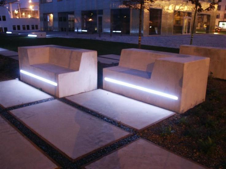 Amazing New LED Concrete Elements Design From Urbastyle