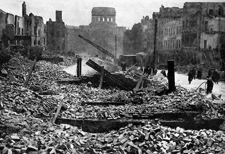 Liverpool - Customs House May Blitz of 1941