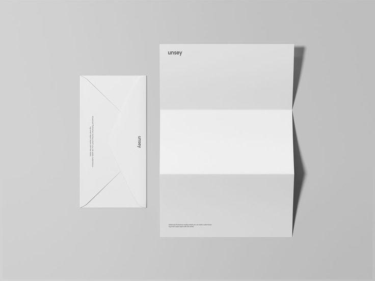 Letterhead Envelope Mockup Free Mockup Free Business Card Mockup Stationery Design Branding Business Card Mock Up
