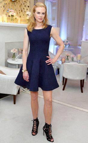 Nicole Kidman in London in Alaia and Blahnik