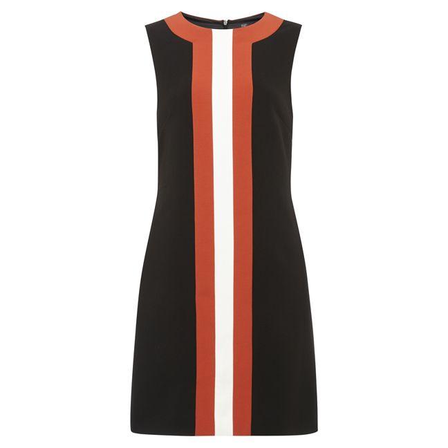 šaty, levné šaty, dámské šaty, rovné šaty, černé šaty, geometrické šaty : F&F