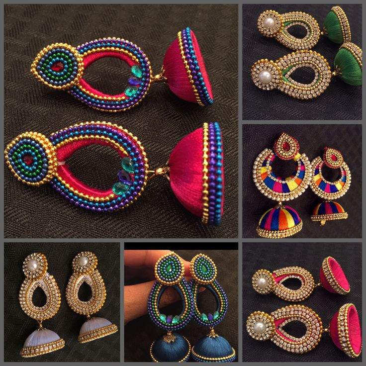 From our Silk Thread Collection.. www.EleganceByDeepa.com