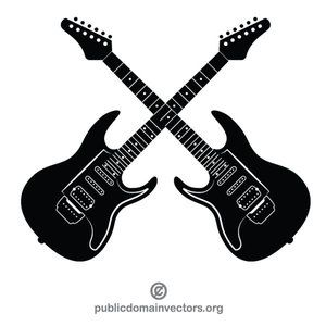 Electric guitars vector clip art