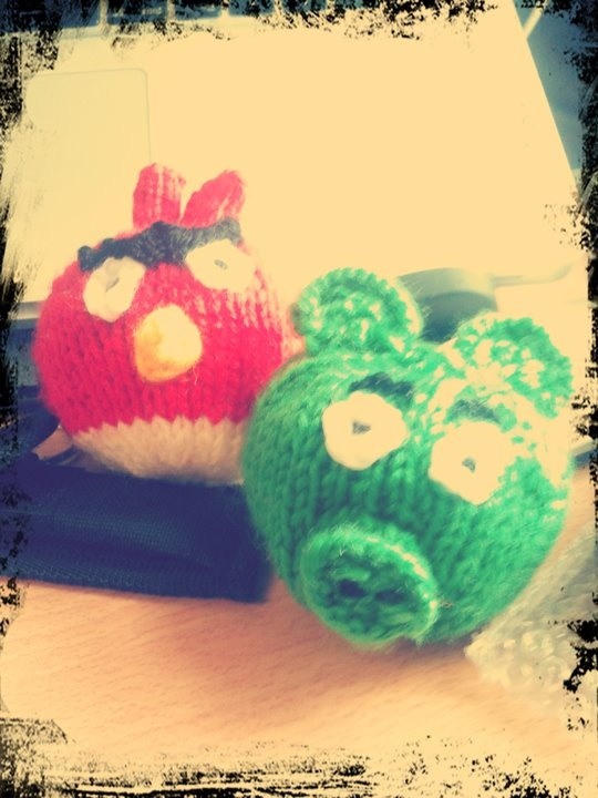 My knitted angry birds