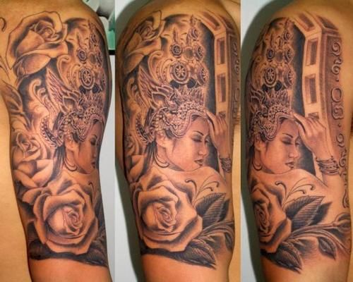 aspara dancer tattoos apsara dancer asian cambodian tattoo pictures khmer tattoos. Black Bedroom Furniture Sets. Home Design Ideas