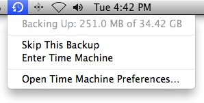 backing up and recovering with time machine