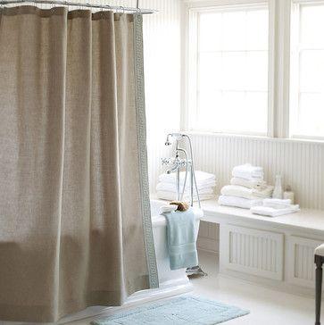Olympia Greek Key Shower Curtain - traditional - Shower Curtains - Ballard Designs