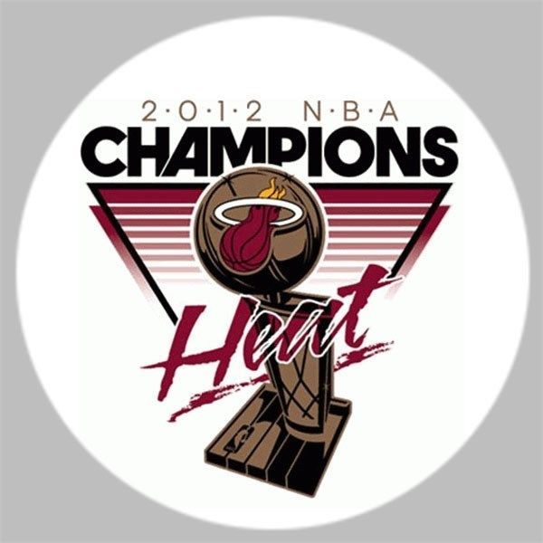 Golf/ 2012 Miami Heat NBA Champions Golf Ball Marker w/Magnetic Hat Clip! New!! #Golf