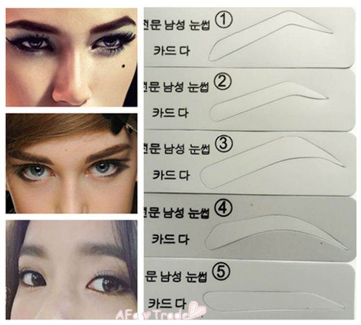5pcs Eyebrow Stencil For Male and Female Eyebrow Painted Template  Makeup Tools for Eye Eyebrows Free Shipping