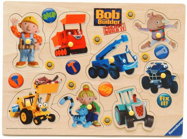 Ravensburger Bob the Builder Wooden Playtray (8 Pieces): Amazon.co.uk: Toys & Games