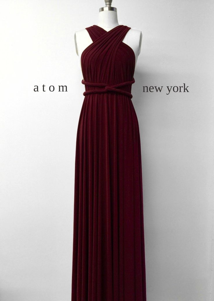 Burgundy Wine Red LONG Floor Length Ball Gown Infinity Dress Convertible Formal Multiway Wrap Dress Bridesmaid Dress Evening Christmas Party by AtomAttire on Etsy https://www.etsy.com/uk/listing/256939098/burgundy-wine-red-long-floor-length-ball