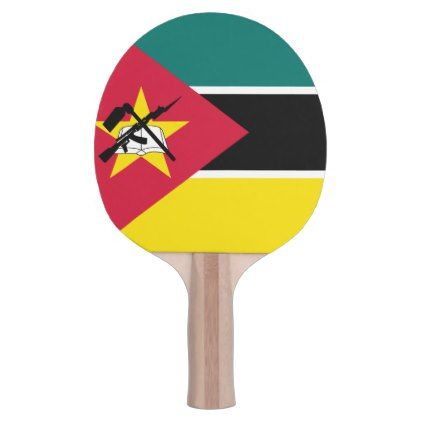 #Mozambique Flag Ping Pong Paddle - cyo customize design idea do it yourself