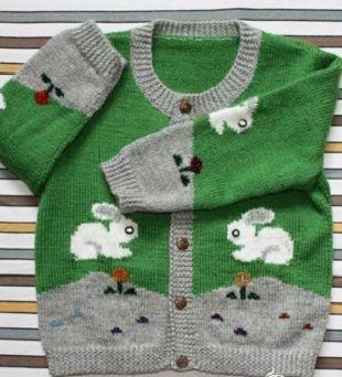Model pentru ace de tricotat bluză pentru copii