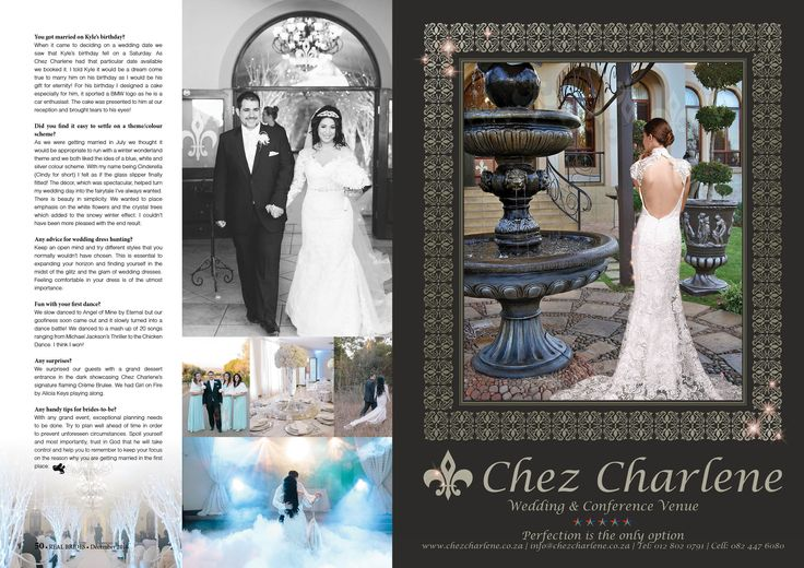 Chez Charlene 5 Star Wedding Venue - Pretoria East - Gauteng - www.chezcharlene.co.za - Real Brides December 2016