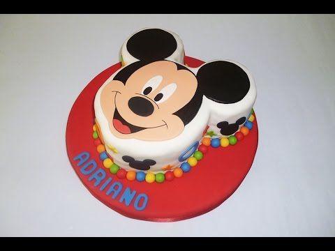 Decoracion de pastel de Mickey mouse / para principiantes - YouTube