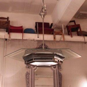 ArtDecoDesignDeckenleuchteDeckenlampeFrancestilvollWandelAntikantique 01032 Franzsische Art Deco Deckenleuchte Sechseckig Diese Grosse 6 Eckige