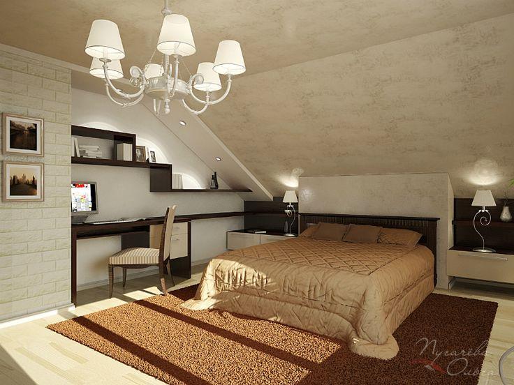 спальня в мансарде - Поиск в Google
