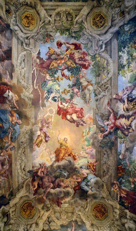 johnneswilhelms:  un-monde-de-papier:  Le Triomphe de la Divine Providence (Pierre de Cortone), Palais Barberini, Rome.