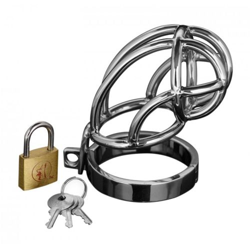 MASTER SERIES CAPTUS STAINLESS STEEL CHASTITY CAGE - http://paulinaboutique.wtustorebuilder.com/product/XRAD150/captus-stainless-steel-locking-chastity-cage