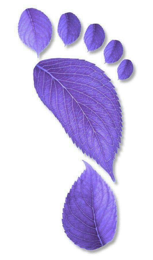Purple Leaf Footprint